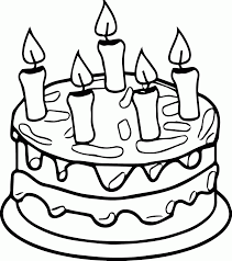 birthday cake coloring page wecoloringpage coloring home