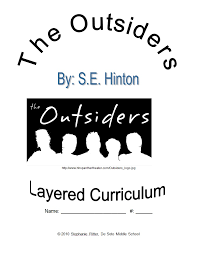 the outsiders layered curriculum