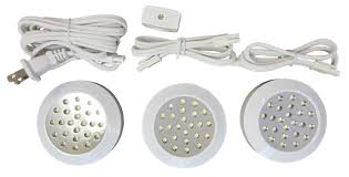 under cabinet led puck lights amazon com canarm ps3 120wht c under cabinet led puck light