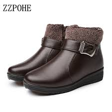 Comfortable Ankle Boots Aliexpress Com Buy Zzpohe Winter Women Ankle Boots Fashion Pu