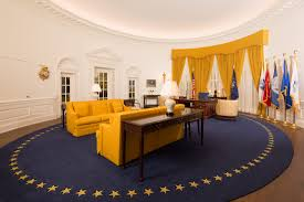 Trump Oval Office Rug President Nixon U0027s Oval Office Now On Display At Nixon Library