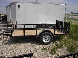 Landscape Trailer Basket by Badger Trailer And Power Single Axle Utility Trailers