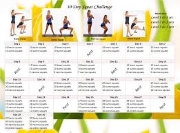 How To Do Challenge Fitness Challenge 30 Day Squat Calendar Challenge Eunicakes