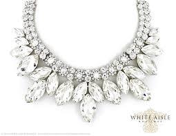 rhinestone statement necklace images Crystal bridal jewelry set vintage inspired bridal necklace jpg
