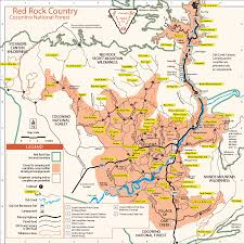 Yuma Az Map Red Rock Country Coconino National Forest Map Arizona Sedona
