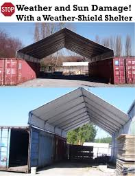Canopy Storage Shelter by Hiscoshelters Com Commercial Industrial Portable Shelter Logic