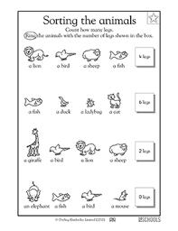 kindergarten preschool math worksheets how many legs does this