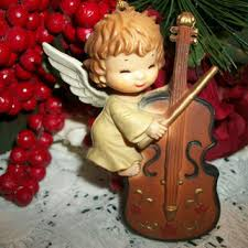 violin tree ornament decore