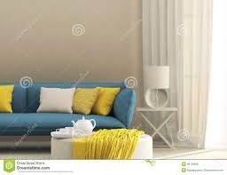 light interior with blue sofa royalty free stock images image