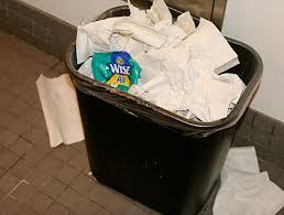 CrumpledUp Potato Chip Bag Spotted In Bathroom Trash Can The - Bathroom trash bags