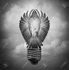 light bulb shaped l creative concept as a surreal idea and innovation metaphor with