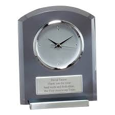 personalized anniversary clocks personalized desk clocks engraved clocks