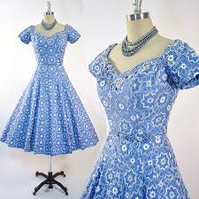 mother of the bride dress for joanie vintage 50s cotton dress