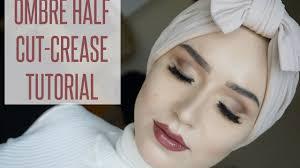 tutorial hijab nabiilabee makeup tutorial ombre half cut crease divaadana nabiilabee youtube