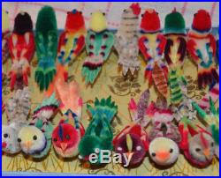 Christmas Tree Decorations Birds by 24 Unused Old Stock Vintage Chenille Birds Boxed Christmas Tree