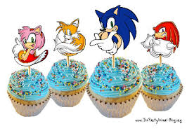 sonic cake topper sonic the hedgehog cupcakes custom cakes by cupcakes