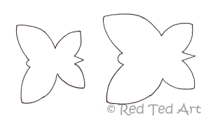 butterfly canvas craft red ted art u0027s blog
