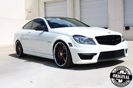 mercedes amg black rims cocaine white c63 amg coupe with forged strasse wheels autoevolution
