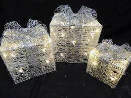 Christmas Outdoor Decorations Uk by Light Up Christmas Parcel Decorations Www Uk Gardens Co Uk
