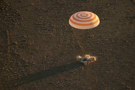 soyuz spaceship lands in kazakhstan u2013 spaceflight now