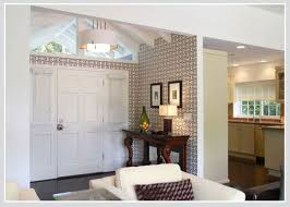 dividing open plan and creating intimate zones with wallpaper