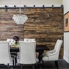 dining room rustic barn board walls design ideas