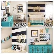 Turquoise Nursery Decor Gold Nursery Design We The Turquoise Accents Gold