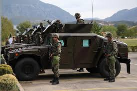 albania gets us military humvees to bolster its army
