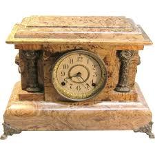 Mantel Clocks Antique Seth Thomas Adamantine Mantel Clock Circa 1891 From