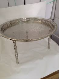 moroccan tea table stand 24 moroccan silver tea pots large tray table round 3 by artmorocco