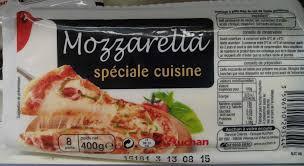 produit cuisine mozzarella spéciale cuisine 18 mg auchan 400 g