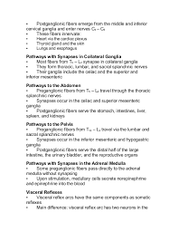 Visceral Somatic Reflex Ch 14 Lecture Outline