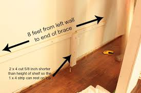 How To Build Wooden Shelf Supports by Easy Diy Wall To Wall Closet