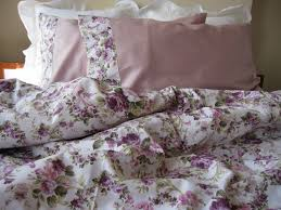 Shabby Chic Floral Bedding by Floral Duvet Cover Pink Green Purple Lavender Lilac Roses