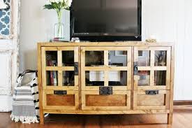 Media Console With Hutch Diy Display Media Console