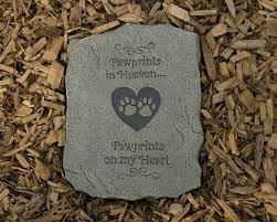 memory stones pet memory stones paw prints on my heart garden