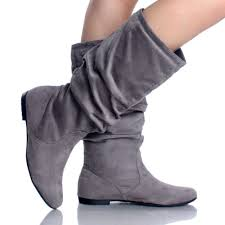 womens flat leather boots australia gray suede slouch scrunch pull on casual flat womens mid calf