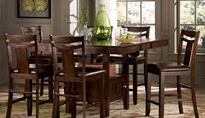 bar amusing brown rectangle coastal wood bar dining table set