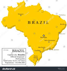 Blank Map Of Brazil by Map Of Brazil Country Outline With 10 Largest Cities Including