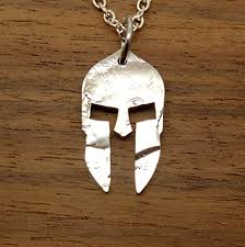necklace key ring images Cut coin spartan helmet pendant necklace jewelry or jpg