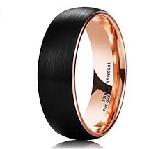 matte black mens wedding bands matte black tungsten carbide gold mens wedding band sang