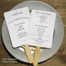 ceremony fans wedding program fans wedding program wedding fans