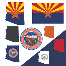 Az State Flag Arizona State Map Flag And Symbols Clipart Collection Ai