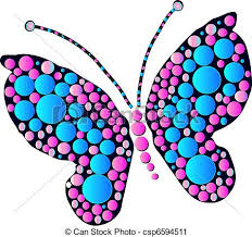 multicolored butterfly designs as and graphic vector clip