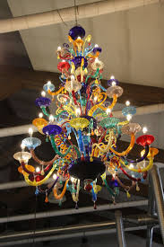 a of a murano glass chandelier from tadashi s trip to the