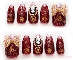 stiletto nails accessory winter nail 3d nails