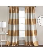 Gold Striped Curtains Deals Sales On Black And Gold Curtains