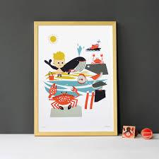 poster chambre bébé poster chambre enfant mer makii