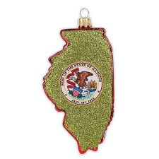 illinois state outline ornament chicago architecture foundation shop