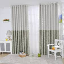 White Curtains With Yellow Flowers Casual Curtains